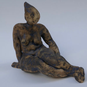 Dark Sitting Figurine by Ruty Benjamini