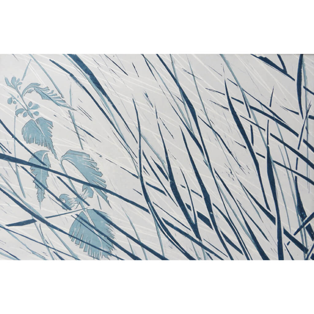 Denham Grasses in Stone & Hague Blue by Sarah Knight