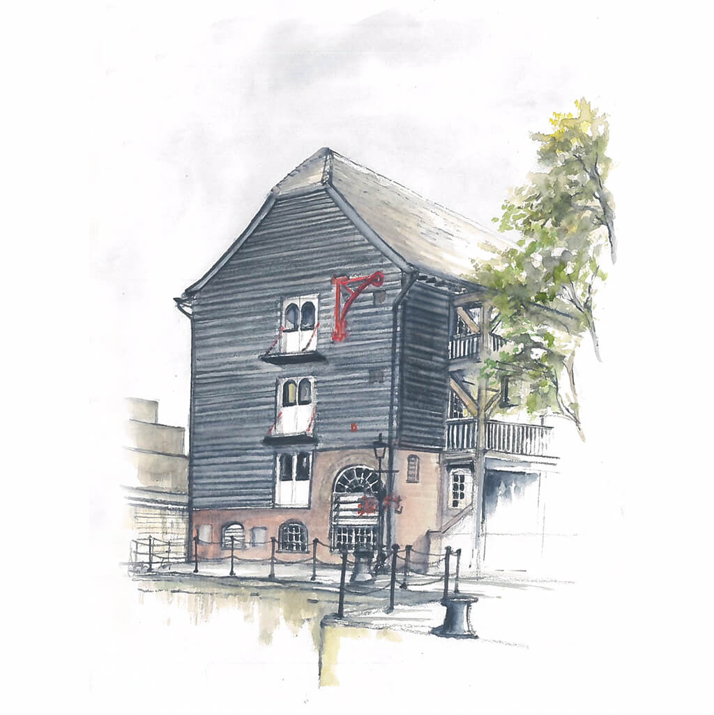 Dickens-Inn-St-Katherines-Dock-London-by-Ed-J-Bucknall-