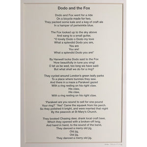 Dodo and the Fox Poem by Helen Trevisiol Duff