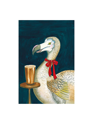 Dodo With A Pint by Helen Trevisiol Duff Border