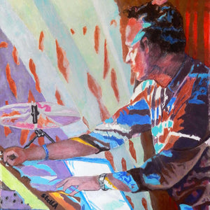 Dom Beken of the Saucerful of Secrets by Stella Tooth Detail