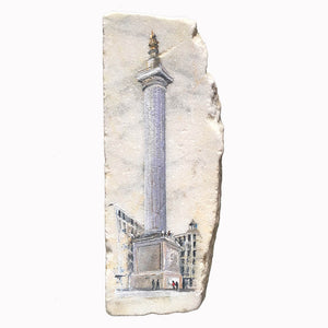 The Monument by Ed J Bucknall Acrylic on Marble Slab