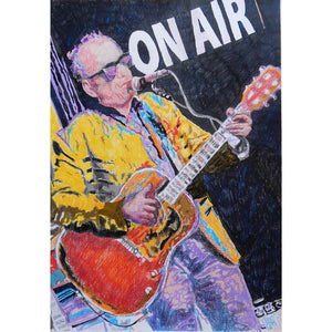 Elvis Costello by Stella Tooth mixed media on paper