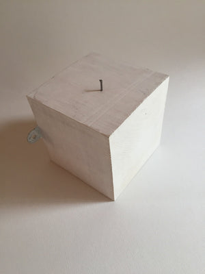 Figurine on a White Cube by Ruty Benjamini Display