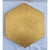 Golden Hexagon by Corrine Edwards Gold Acrylic paint stamped with image of a Honey bee