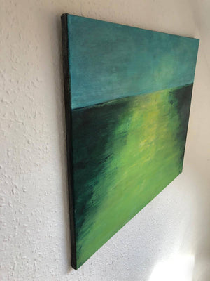 Green Landscape by Sarita Keeler Acrylic Painting Side