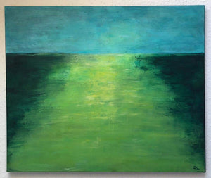 Green Landscape by Sarita Keeler Acrylic Painting Full