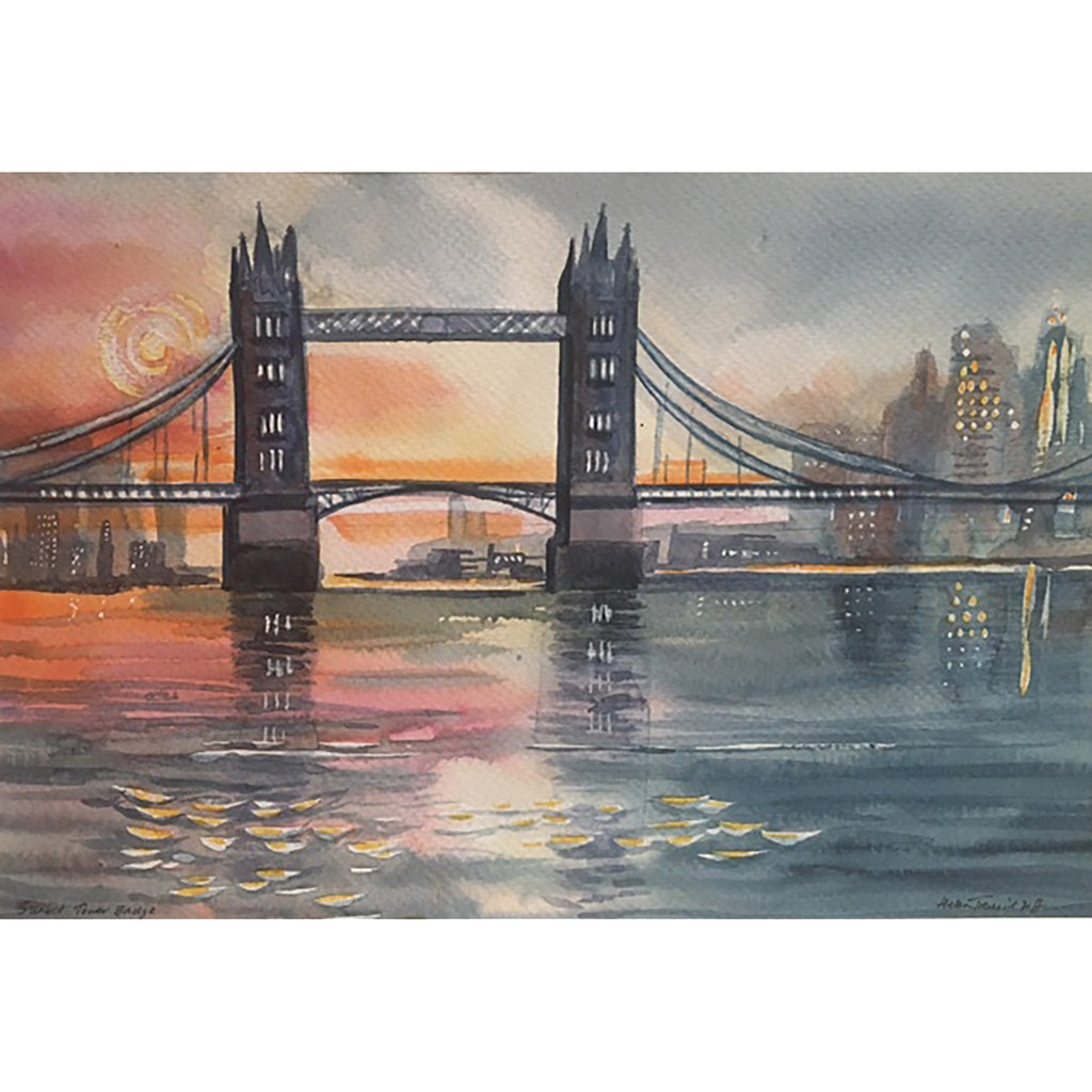 Sunset Tower Bridge by Helen Trevisiol Duff