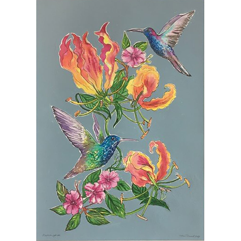 Hummingbirds by Helen Trevisiol Duff Artist