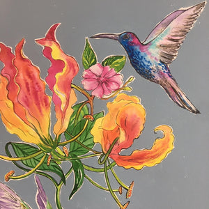 Hummingbirds by Helen Trevisiol Duff Artist Detail