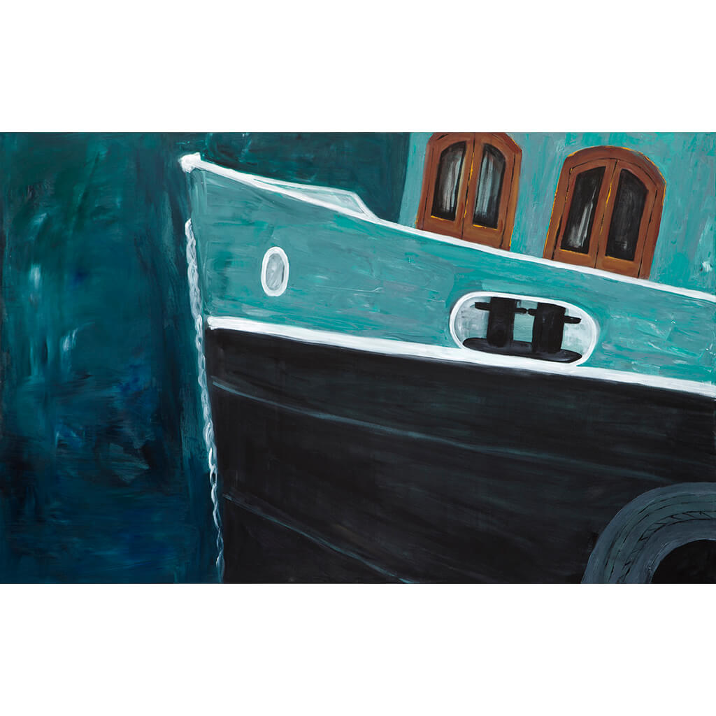 Kingston Boat by Sarita Keeler Acrylic