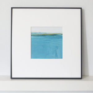 Landscape in Welsh Teal by Sarah Knight Framed