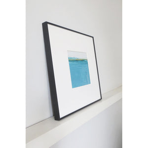 Landscape in Welsh Teal by Sarah Knight Black Frame