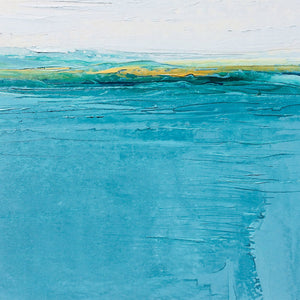 Landscape in Welsh Teal by Sarah Knight