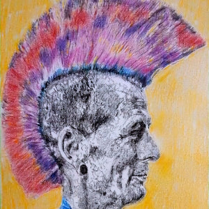 Last of the Mohicans by Stella Tooth Artist Drawing Detail