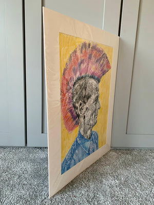 Last of the Mohicans by Stella Tooth Artist Drawing Side