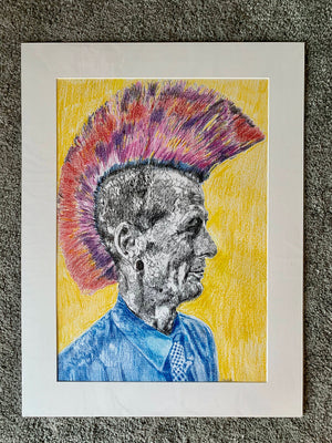 Last of the Mohicans by Stella Tooth Artist Drawing Portrait