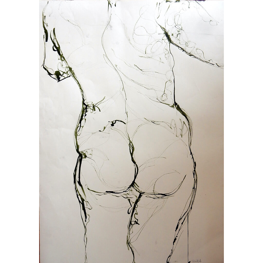 Life Drawing Ink by Stella Tooth