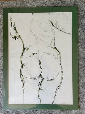 Life Drawing Ink by Stella Tooth in Mount