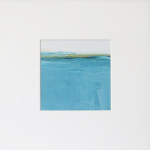 Landscape in Welsh Teal by Sarah Knight in Mount