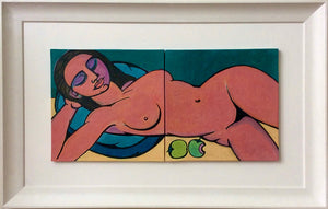 Majia, Naked, with Apples by Linda Samson