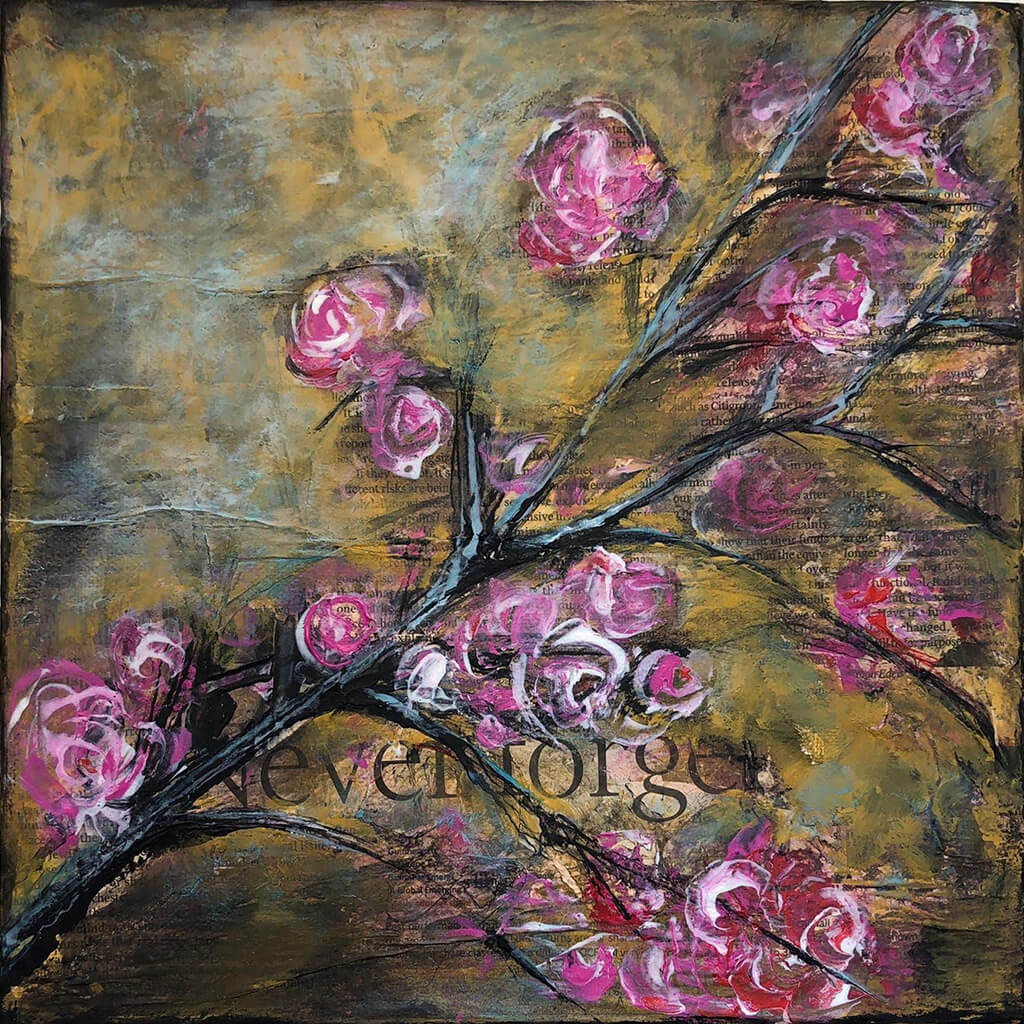 Never Forget by Sarita Keeler Mixed Media Acrylic