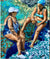 Back and forth in Ischia by Stella Tooth Oil Painting Display
