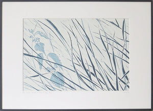 Denham Grasses in Stone & Hague Blue by Sarah Knight Display