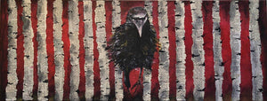 Raven in the Woods by Sarita Keeler Mixed Media Acrylic Display