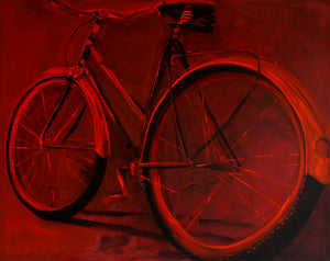 Red Bike by Sarita Keeler Acrylic Display