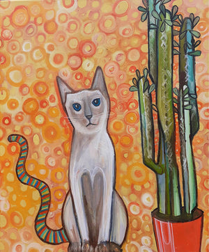 The Cat With The Rainbow Tail by Wilf Frost Artist Oil on Canvas Preview