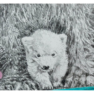 Polar bears original drawing by Stella Tooth artist
