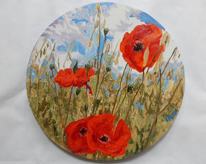 Poppies Original Flowers Oil Painting by Stella Tooth