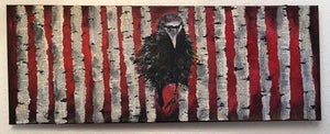 Raven in the Woods by Sarita Keeler Mixed Media Acrylic