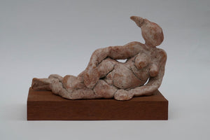 Reclining Lady by Ruty Benjamini Ceramic Artist  On Mount