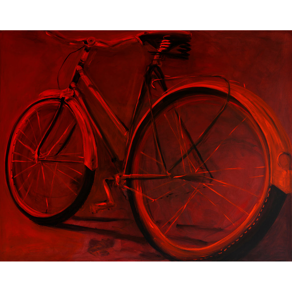 Red Bike by Sarita Keeler Acrylic