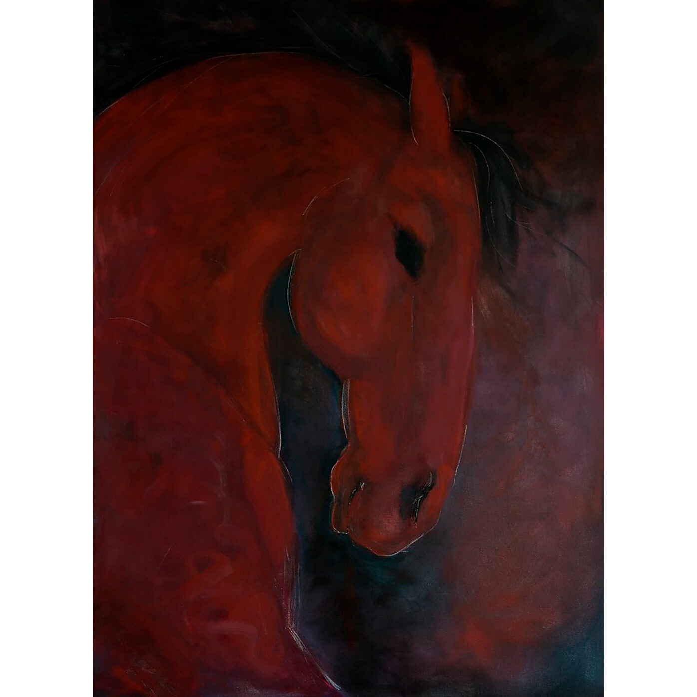 Red Horse by Sarita Keeler Acrylic