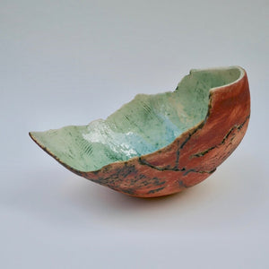 Red Shell by Ruty Benjamini Ceramic Artist Side