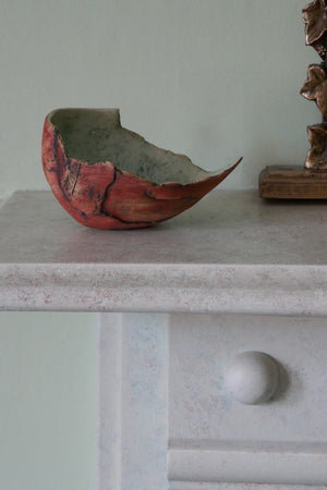 Red Shell by Ruty Benjamini Ceramic Artist Display