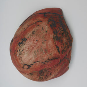 Red Shell by Ruty Benjamini Ceramic Artist Underside