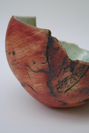 Red Shell by Ruty Benjamini Ceramic Artist Detail