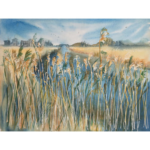 Reeds Along The River by Helen Trevisiol Duff giclée print