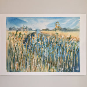 Reeds Along The River by Helen Trevisiol Duff giclée print full