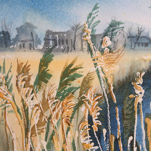 Reeds Along The River by Helen Trevisiol Duff giclée print detail