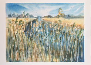 Reeds Along The River by Helen Trevisiol Duff giclée print Display