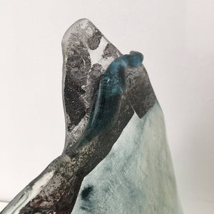 River Deep, Mountain High by Eryka Isaak Glass Sculpture Detail