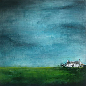 Little House 2 Original Acrylic Painting by Sarita Keeler