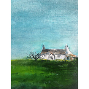 Little House 2 Original Acrylic Painting by Sarita Keeler Detail