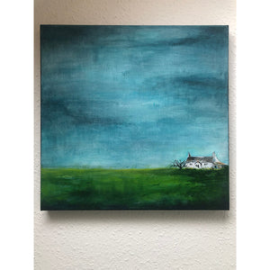Little House 2 Original Acrylic Painting by Sarita Keeler Wall